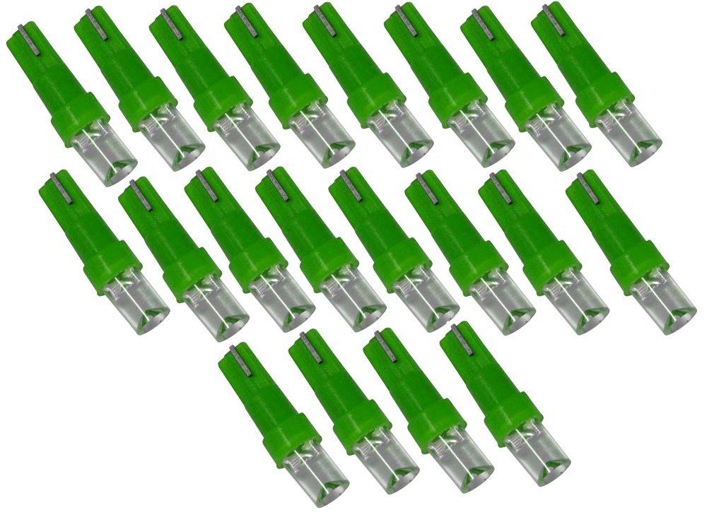 AERZETIX: 20 x Bombillas LED T5 12V Luz verde C1865: Amazon.es: Coche y moto