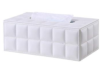 Foming dispensador de Caja de pañuelos de Piel Gamuza sintética, 25 * 14 * 9.5 cm (Blanco): Amazon.es: Informática