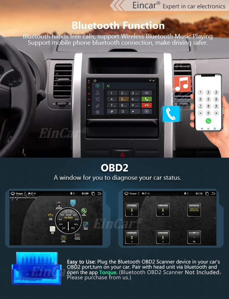Double Din Android 10.0 Car Stereo 7 Inch Touch Screen Car Radio with Bluetooth GPS Navigation 2DIN Radio Receiver Android Head Unit Backup Camera Support WiFi//Mirror Link//SWC//DVR//USB//SD