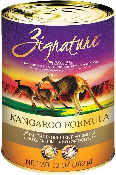 Zignature Kangaroo Canned Dog Food Formula 12/13Oz