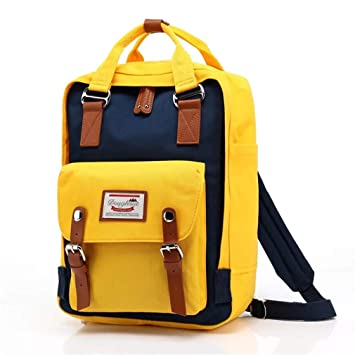 Amazon.com | Classic Original Kanken Women Students Fashion Backpack Mochila Feminina Travel School Bags Bagpack Original Yellow Blue | Backpacks