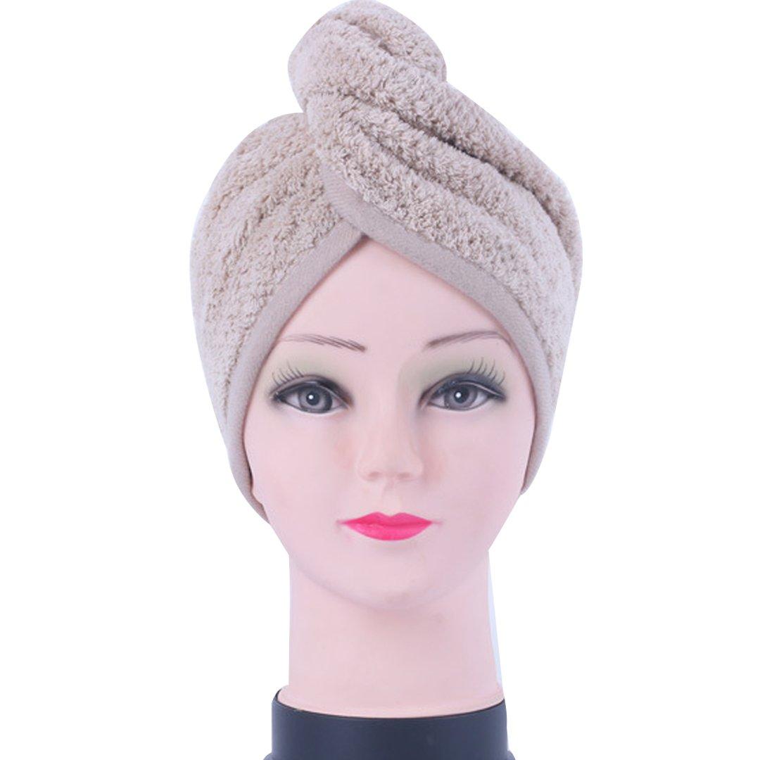 Millya pelo de microfibra turbante de secado rápido sombrero regla toalla de baño de pelo secado Cap Wrap con botón