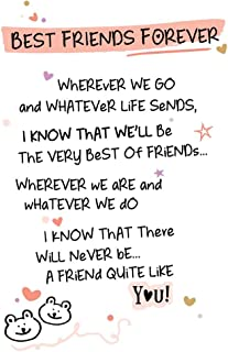 Best Friends Forever Inspired Words Greeting Card Blank Inside