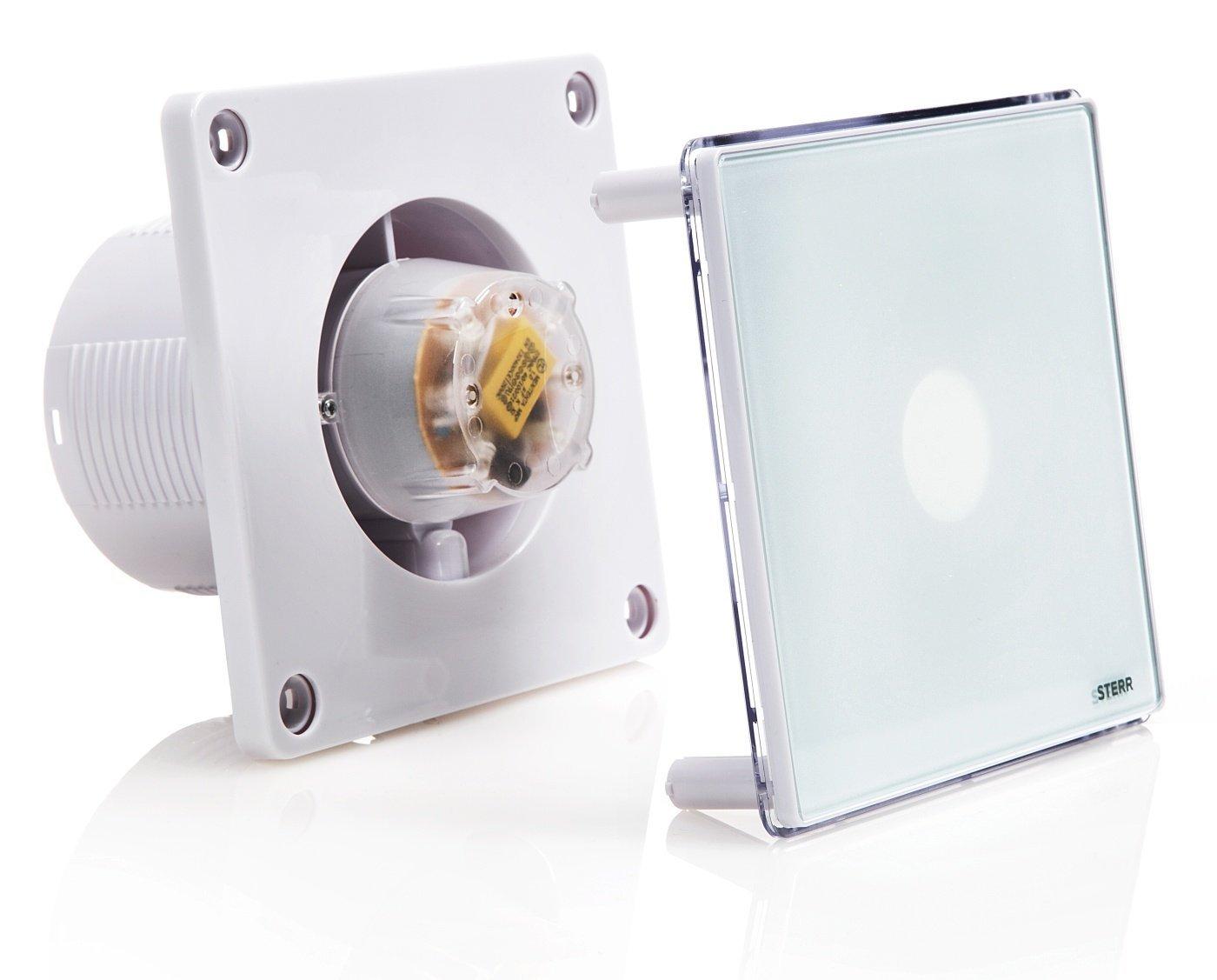 Sterr aspiratore per bagno con retroilluminazione led e timer
