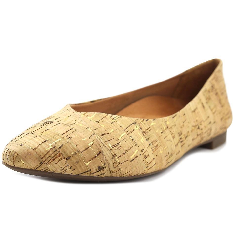 Vionic Women's Gem Caballo Ballet Flat Gold Cork Size 9