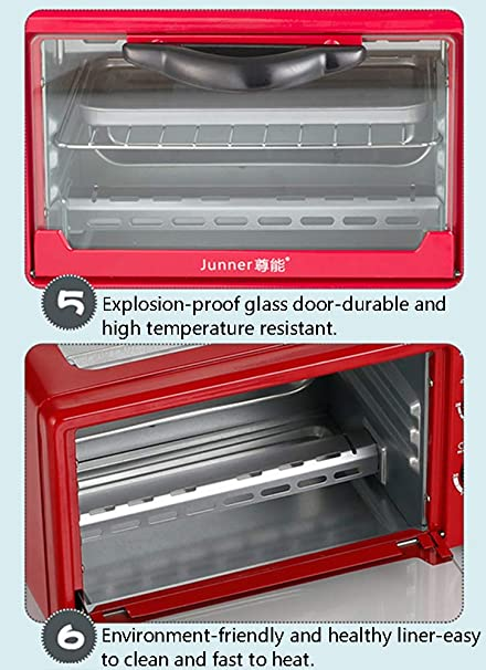 WAZAD Café Tortilla Maquina para Hacer Pan Hogar 9 litros Máquina de Desayuno,Triple Multifuncion Mini Horno Eléctrico,Rojo: Amazon.es: Deportes y aire libre