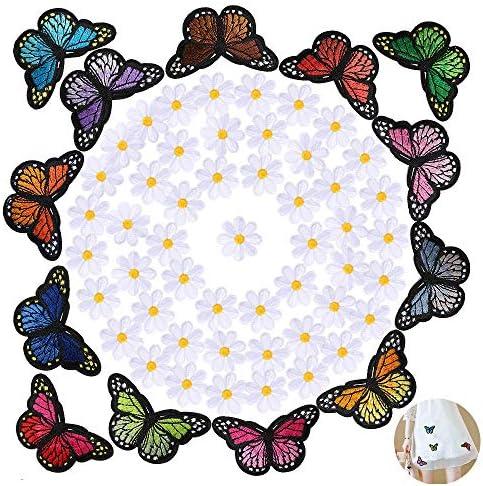 60pcs Parches Bordados Apliques Termoadhesivos Pegatinas Stickers Ropa Infantiles Flores Mariposas Decoración Costura Ropa Jeans Chaquetas Vaqueros Vestidos: Amazon.es: Hogar