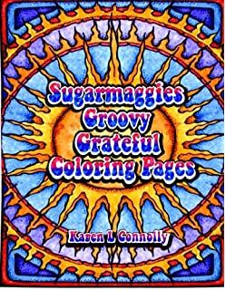 sugarmaggies groovy grateful coloring pages volume 1 - Grateful Dead Coloring Book