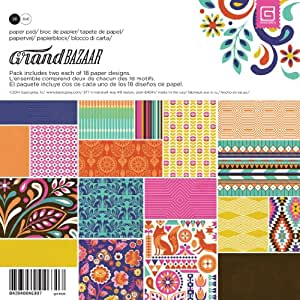Basic Grey Grand Bazaar Paper Pad, 6-Inch by 6-Inch 36-Pack