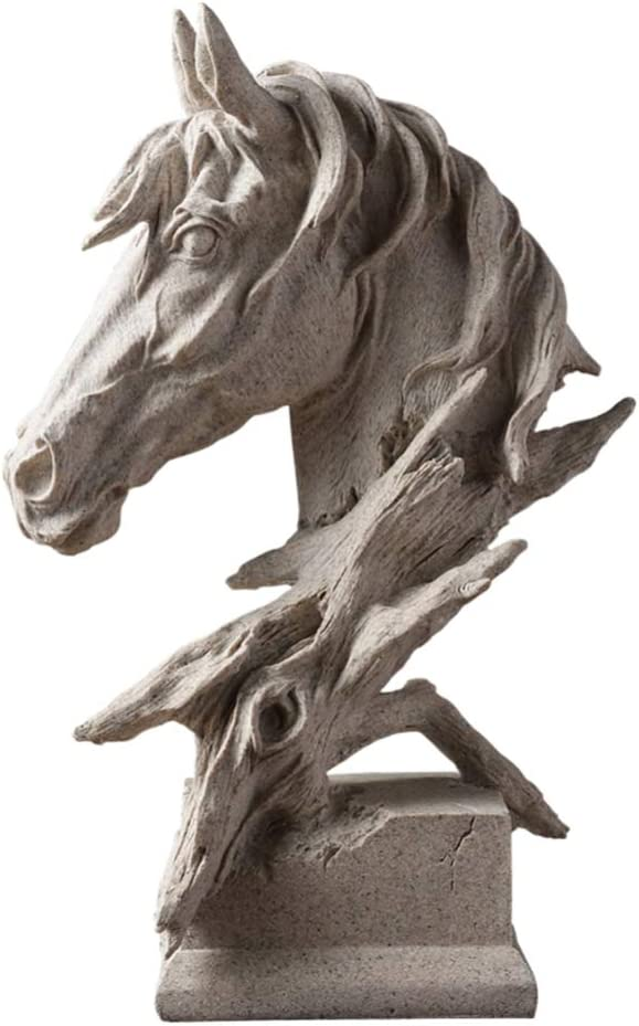 Garneck - Figura Decorativa de Cabeza de Caballo (tamaño pequeño), diseño de Animales, Resina, Imagen 1, 9 * 13cm