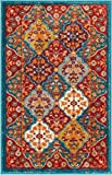 Well Woven Diana Blue Trellis Multi-Color Modern Area Rug 2×3 (20″x31″) Small Mat Yellow Oriental Lattice Panel Plush Super Soft Carpet For Sale