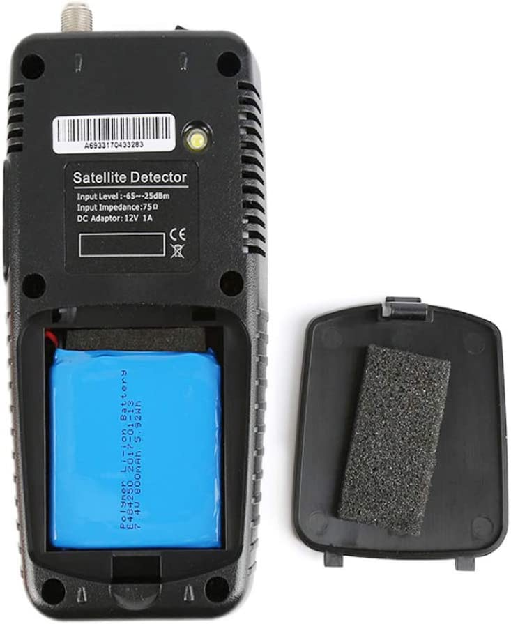 MeterMall CE for 6933 DVB-S2 TV Signal Scan Finder Meter WS6933 with Flashlight Compass for High Definition Set-top Box US Plug