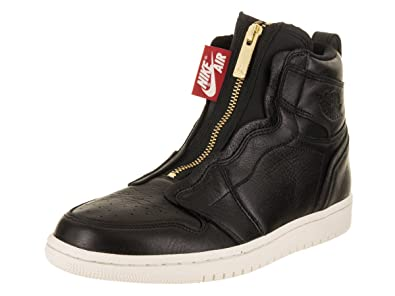 Nike Wmns Air Jordan 1 High Zip, Zapatillas de Deporte para Mujer, (Black