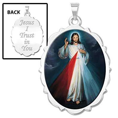 Amazon divine mercy double sided scalloped oval religious medal divine mercy double sided scalloped oval religious medal color 12 x 23 aloadofball Gallery