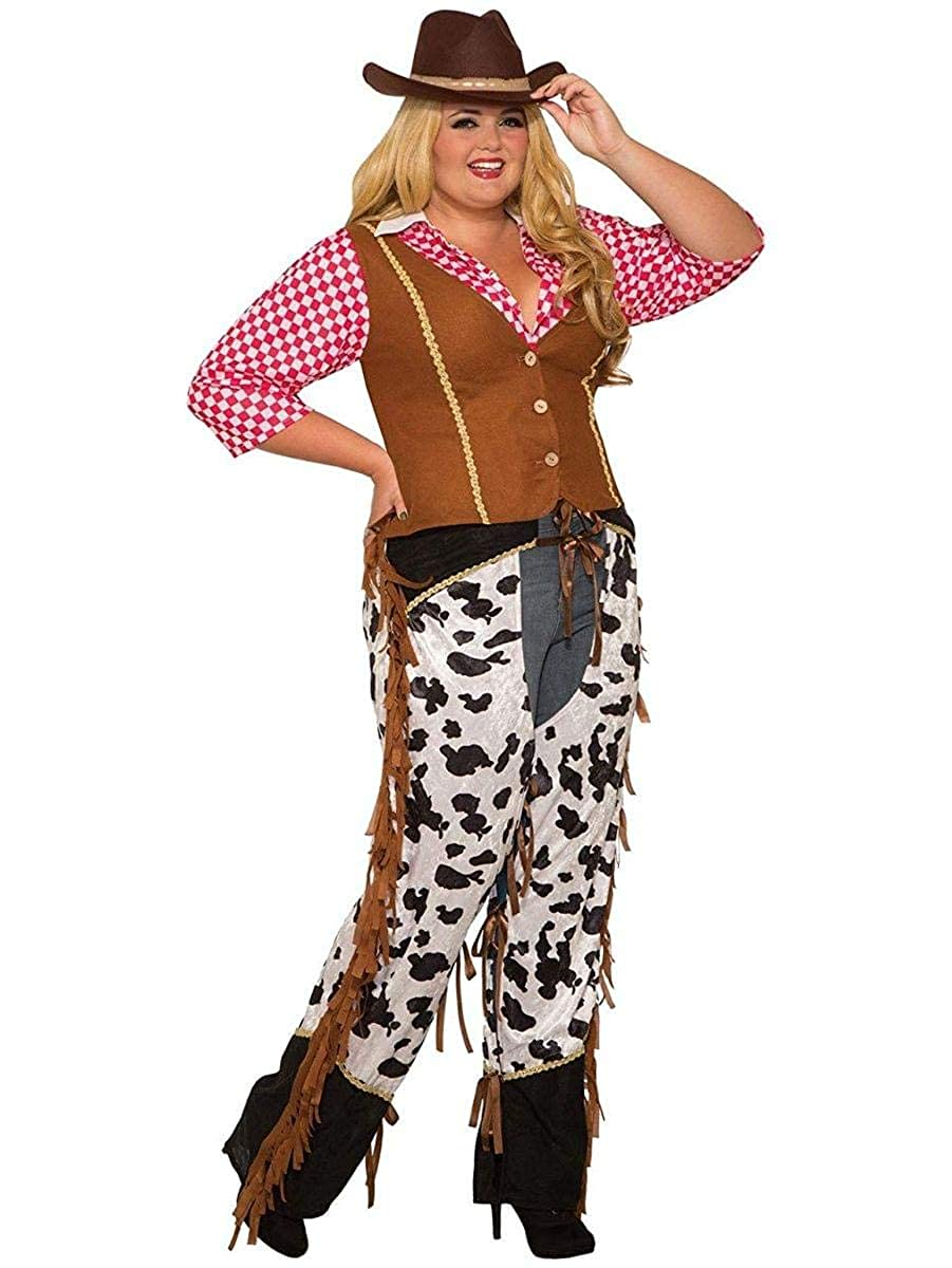 Amazon.com: Curvy Cowgirl Rancher Costume for Women (Plus ...