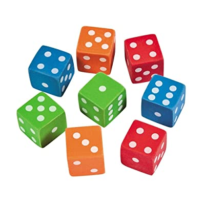 DICE ERASERS - Stationery - 12 Pieces: Toys & Games