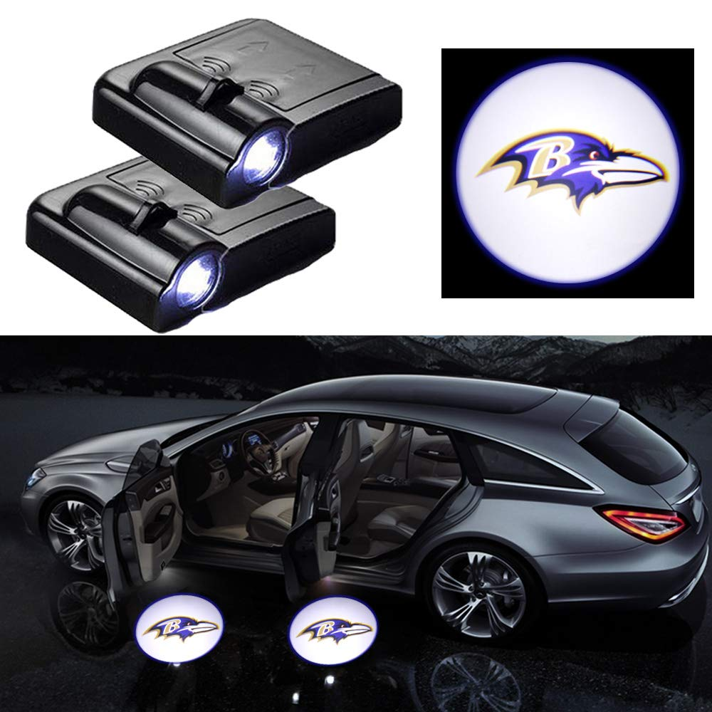 2Pcs Car Door Courtesy Light Welcome Projector Shadow Ghost Light Lamp Fit for All Car Models For Donald Trump 2020 LED Car Door Logo Projector Light