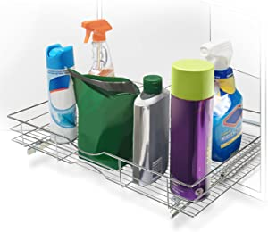 """Home Zone Living Pull Out Drawer Cabinet Organizer for Under the Sink, 20.67"""" W x 31"""" D"""