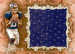 Autograph Warehouse 345081 Odell Beckham Jr. Player Worn Jersey Patch Football Card - New York Giants 2014 Topps Inception No. RJROB Rookie LE 26 & 215