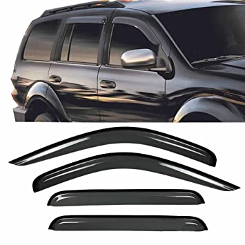 Dodge Durango 1998-2003 Wind deflectors In-Channel