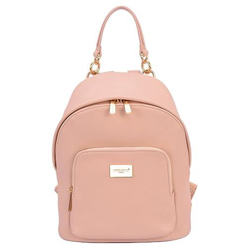 e28d42016d David Jones - Women s Fashion Backpack Back Bag Rucksack Girl School Teenager  Purse Small Size Trendy