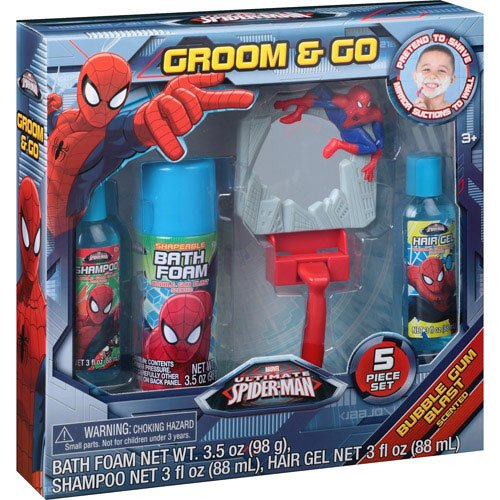 Marvel Ultimate Spider-Man Groom & Go Gift Set, 5 Pc Set (Groom And Go Spiderman)