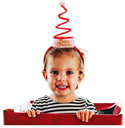6a4324809fc18 Amazon.com  Springy Christmas Headband - Christmas Headbands - by ...