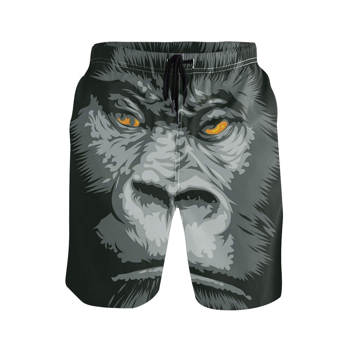 KVMV Clear Underwater Corals and Tropical Fishes Stingray Starfish Egyptian Sea Casual Swim Trunks All