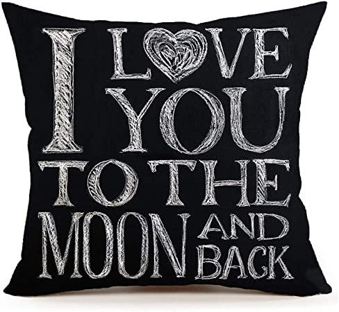Amazon.com: I Love You To The Moon And Back Home Decor Throw ...