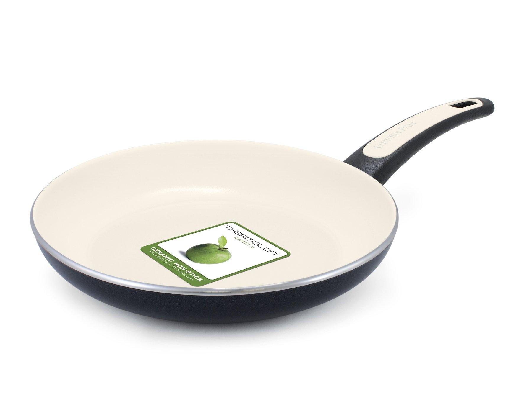 Vita+Verde 9.5'' Ceramic Non-Stick Open Frypan, Black