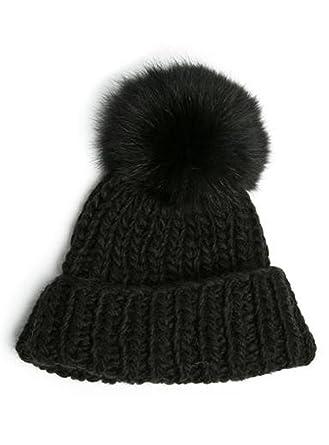 3d1e6b305256d Chunky Knit Faux Fur (Black) at Amazon Women's Clothing store: