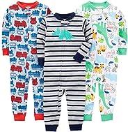 Simple Joys by Carter's baby-boys 3-pack Snug-fit Footless Cotton Pajamas Pajama