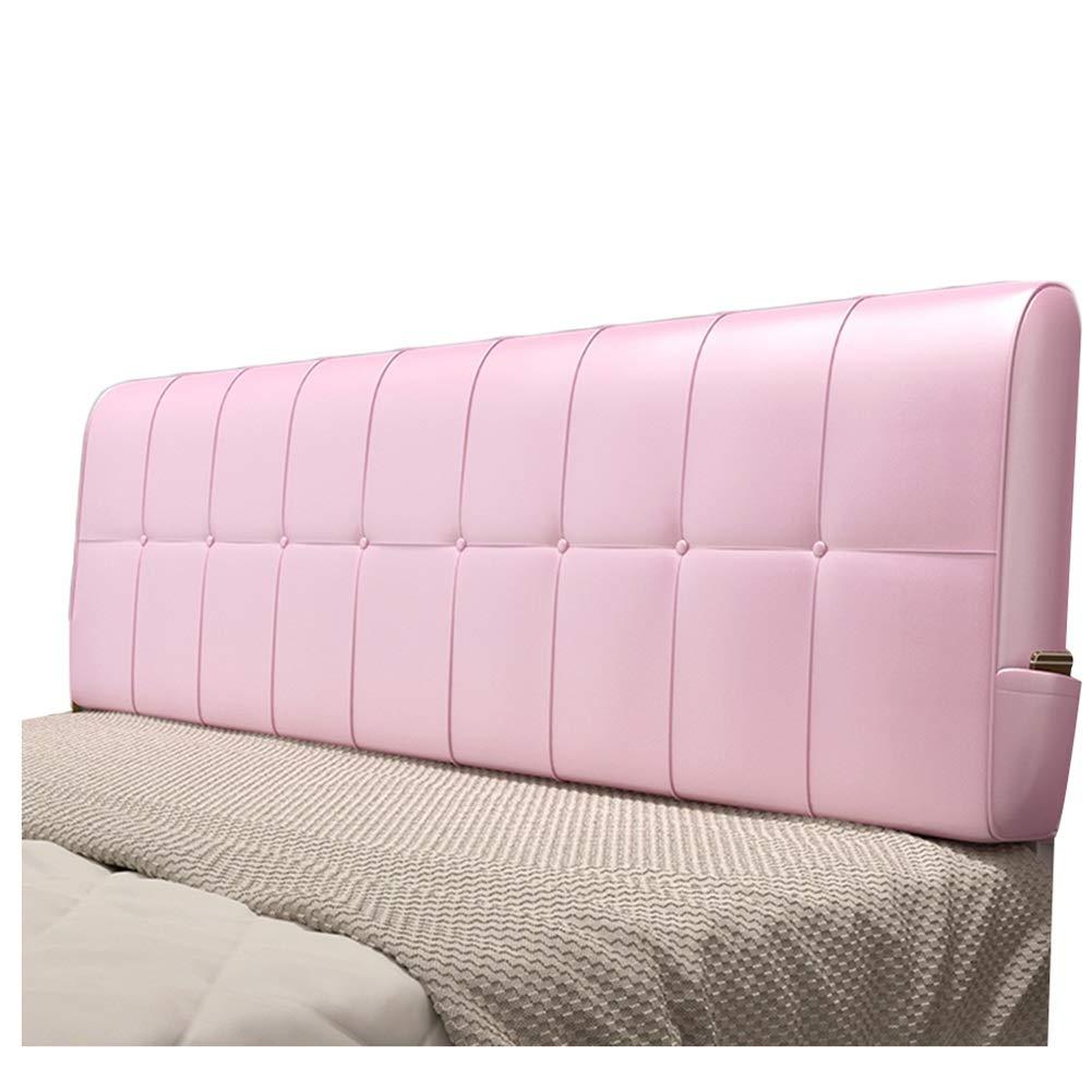WENZHE クッションベッド 床用靠垫 ウェッジ スポンジ ソフトケース PU 背もたれ ホーム 寝室 ウエストパッド、 5色 (Color : A, Size : 90x58cm) B07SNTTCWY A 90x58cm