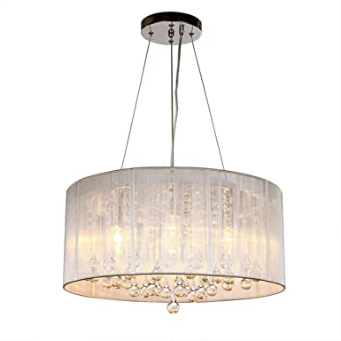 DINGGU Contemporary Pendant Chandelier Lighting with Cylinder Lamp Shade Modern Lighting Fixtures