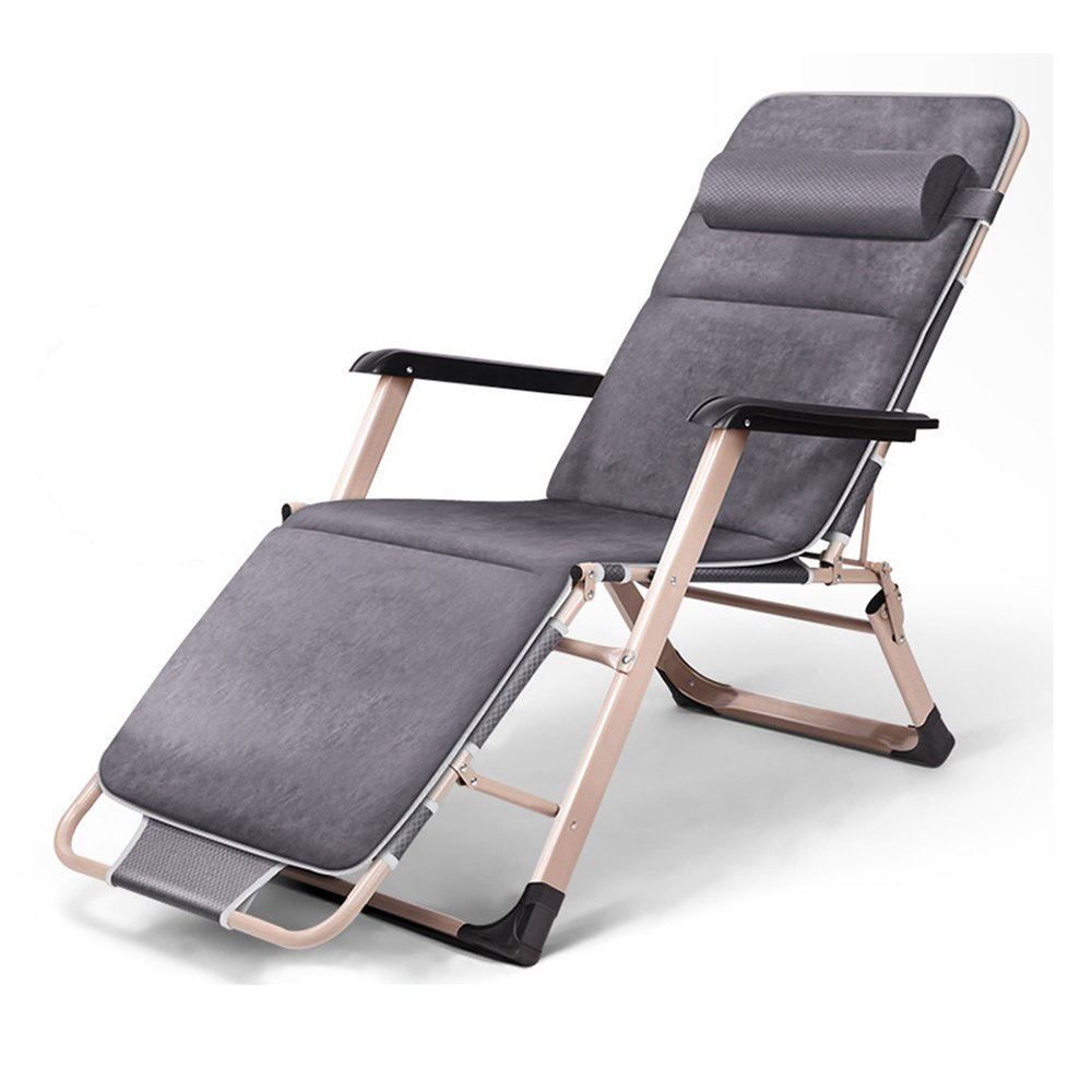 QFFL リクライナー折りたたみ式昼食ブレイクレジャーチェアホーム多機能椅子ポータブル自動アンチフォールバックチェア アウトドアスツール (色 : Gray, サイズ さいず : 2#) B07FQH1CW6 2# Gray Gray 2#