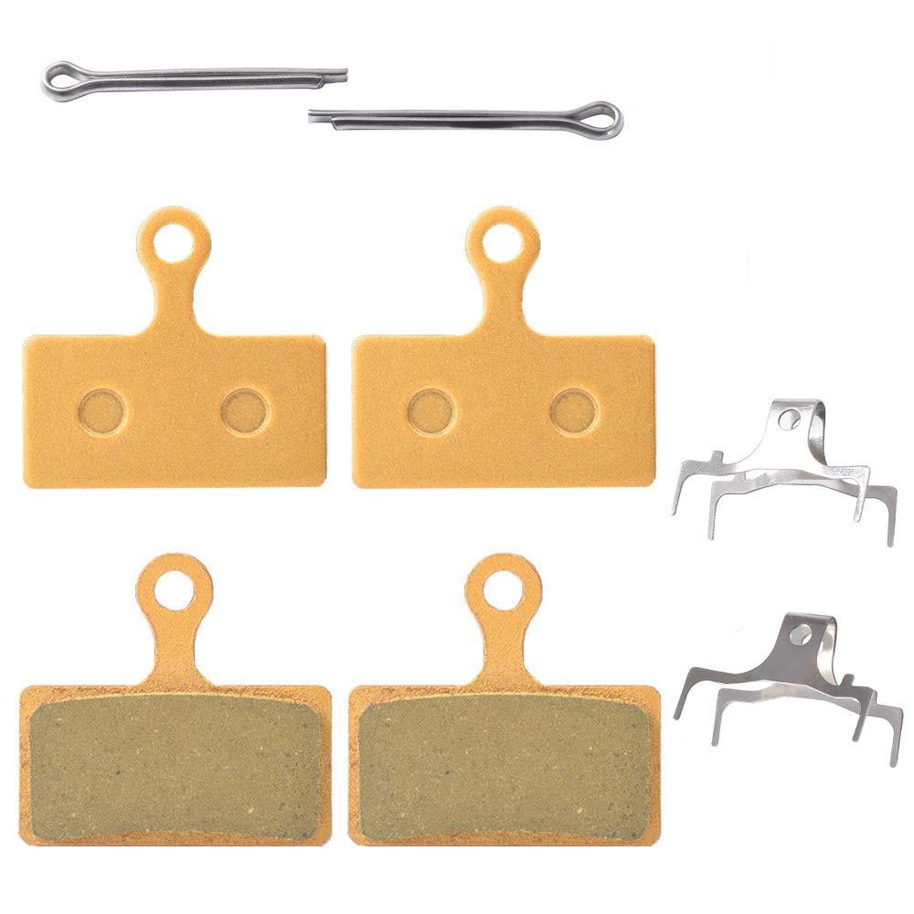 2 paia pastiglie freni per Shimano XT br-m8000 M785 XTR M9000 M9020 M987 M988 M7000 M985 SLX M675 M666 Deore M615 RS785 R785 CX75 R515 R315 R317 R517 Alfine S700 dbp-g02 a.(multi-metallic, resina, semi-metallic, metallo sinterizzato) Icreopro