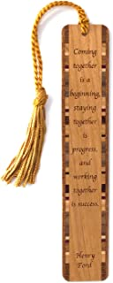 product image for Quote About Success - Engraved Wooden Bookmark with Tassel - Search B07FB72STD to See Personalized Version