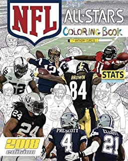 nfl all stars 2018 the ultimate football coloring stats and activity book for adults