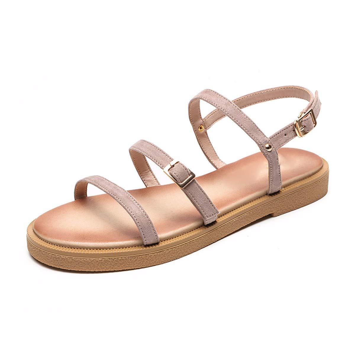 KPHY-Ein Paar Zehen Weiches Mädchen Flach Unten Sandalen Niedrige Absätze Absätze Niedrige Flache Sandalen.35 Aprikosen - Farbe - b841e2