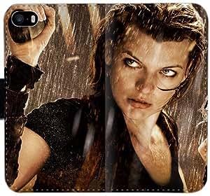 Caja del cuero de Resident Evil L6E9V Funda iPhone 5C funda 2SY838 el caso del tirón del teléfono celular Funda protectora personalizada