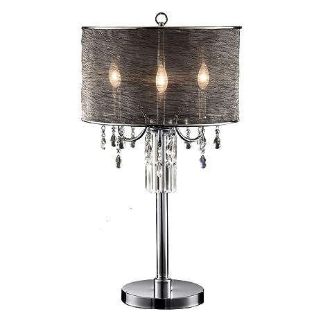 Amazon.com: ok-5127t Classy Lámpara de mesa de vidrio de 32 ...