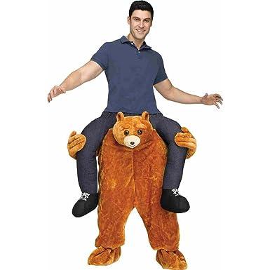 Amazon.com: Fun World Men's Carry Me Teddy Bear Adult Costume ...
