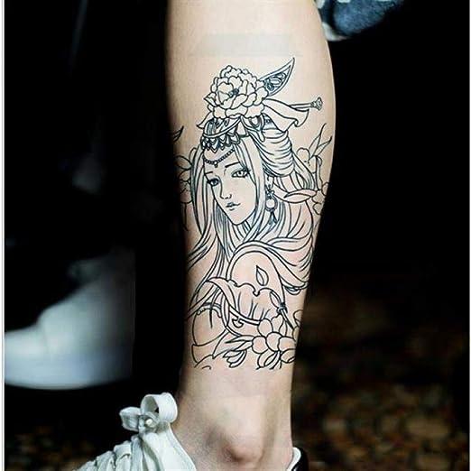Tatuaje Secant Line Line Tattoo Color Ink Xuanyi Flower Arm Tattoo ...