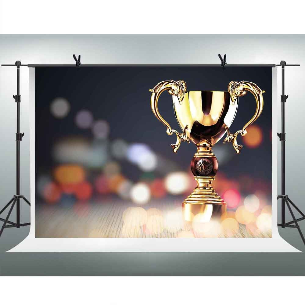 Gold Trophy Photography Backdrop FH 7x5ft Micro Lens Shooting Blur Background Themed Party YouTube Backdrops Photo Booth Studio Props XCFH233