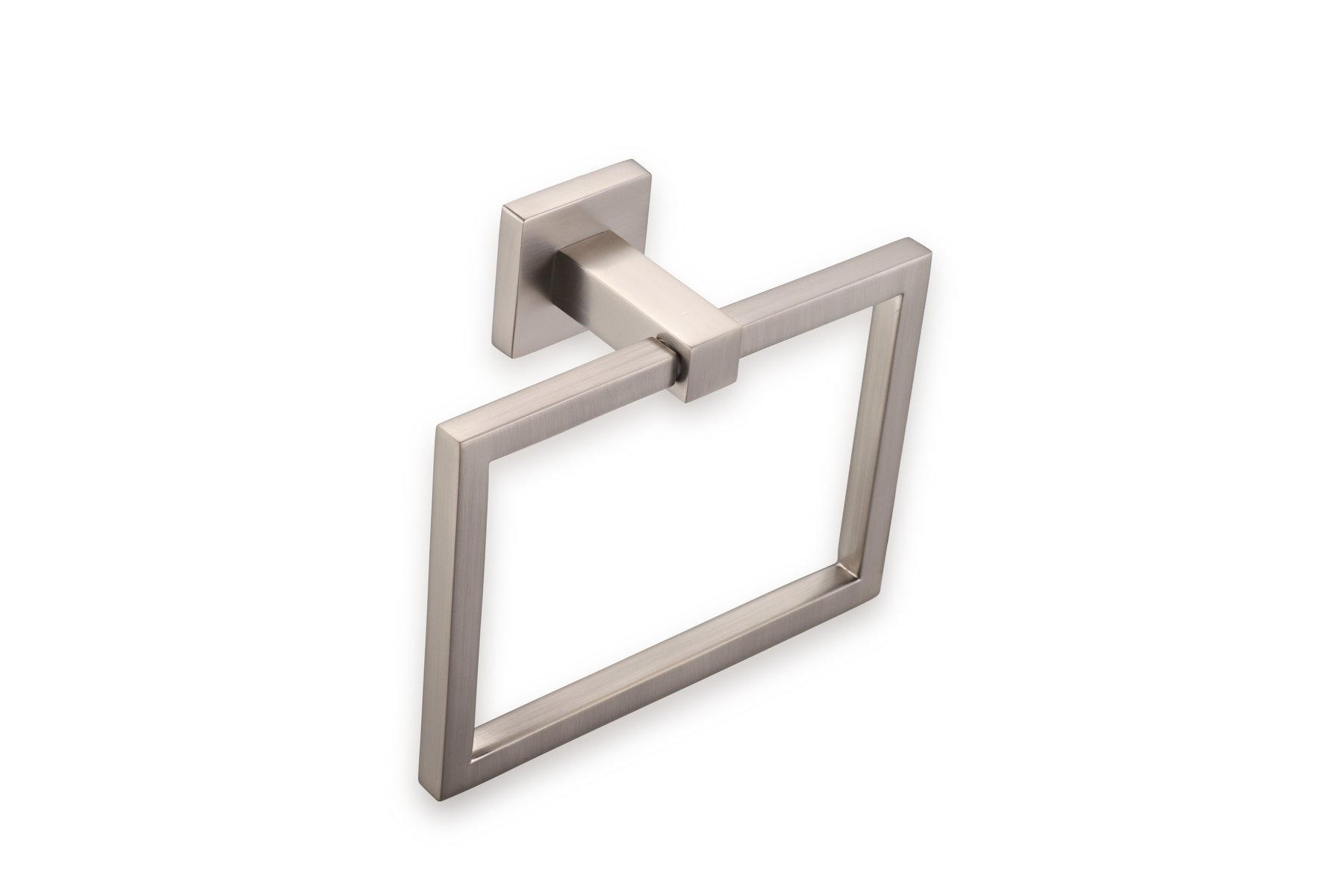 MAKYYE Mitte Towel Ring | Modern Rectangular Wall Mount Towel Holder for Bathroom Lavatory, Shower, Kitchen Brushed Nickel, OYA1041302