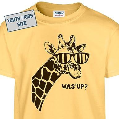 Amazon.com: Youth Giraffe T Shirt Funny Kids T Shirt Cute Kids T ...