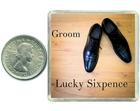 Oaktree Gifts Lucky Wedding Sixpence Coin for the Groom & Traditional idea for The Grooms Shoe
