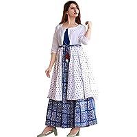 Ashwati Women's Rayon Printed Straight Jacket Kurti