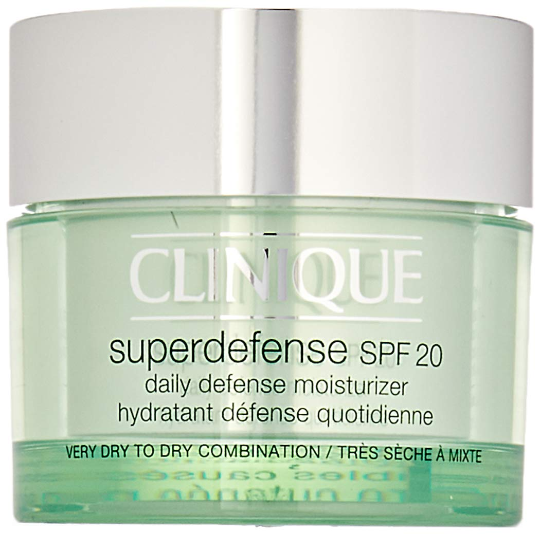 Clinique Unisex SPF 20 Super Defense Daily Defense Moisturizer, Very Dry To Dry Combination, 1.7 Ounce by Clinique