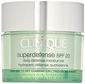 Clinique Unisex SPF 20 Super Defense Daily Defense Moisturizer, Very Dry To Dry Combination, 1.7 Ounce